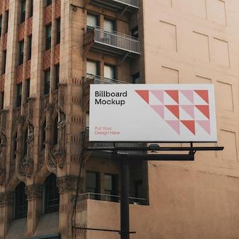 Макет рекламного щита большого города