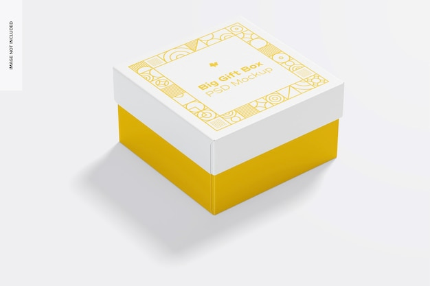 Мокап большой подарочной коробки