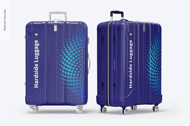 Big hardside luggage mockup, front view