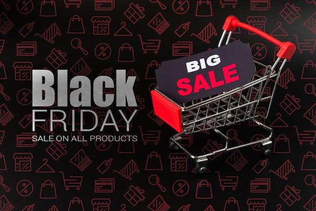 검은 금요일에 큰 온라인 판매