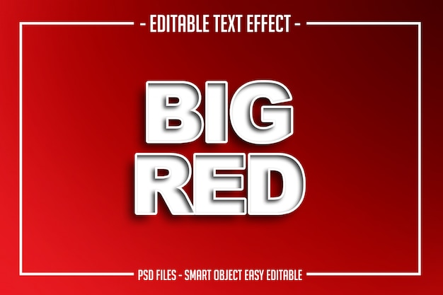 Big red text style editable font effect