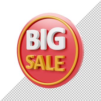 Большая распродажа 3d значок изолированные