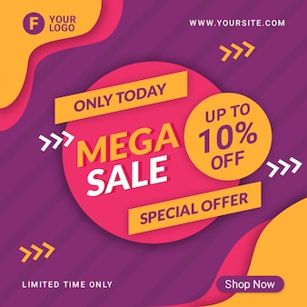 Big sale banner template promotion
