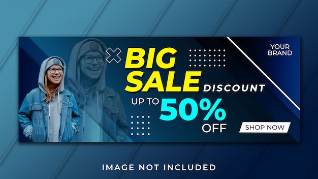 Big sale facebook cover template