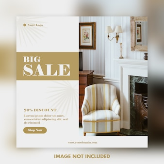 Big sale social media template