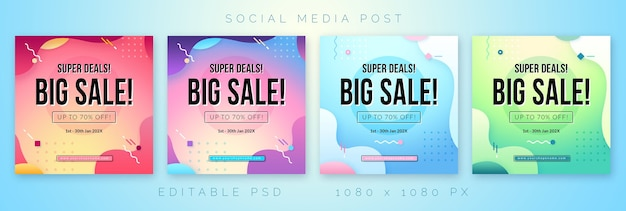 소셜 미디어를위한 큰 판매 템플릿