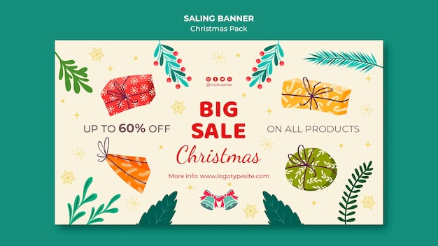 Big sale with discounts for christmas