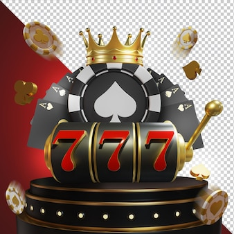 Big win jackpot casino 3d compositon isolated layer