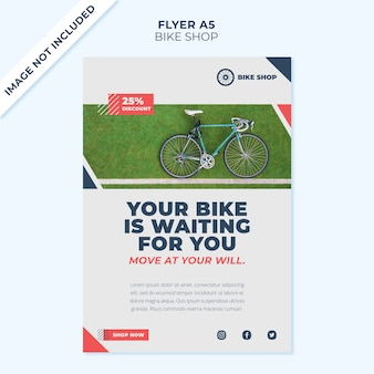 Bike shop concept flyer cover template