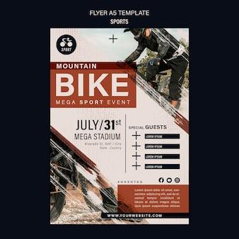 Шаблон дизайна флаера для велосипедного спорта