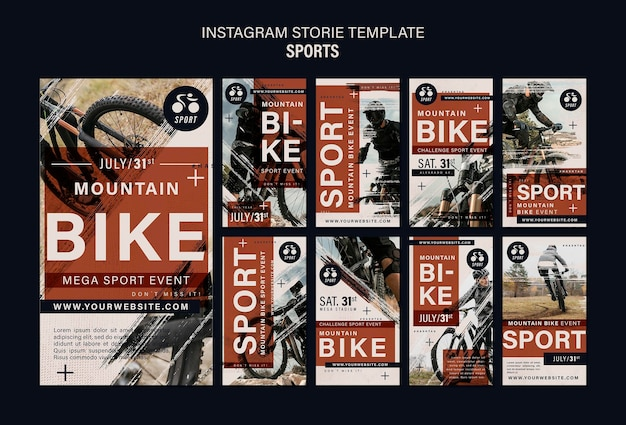 자전거 스포츠 인스타그램 스토리 디자인 템플릿
