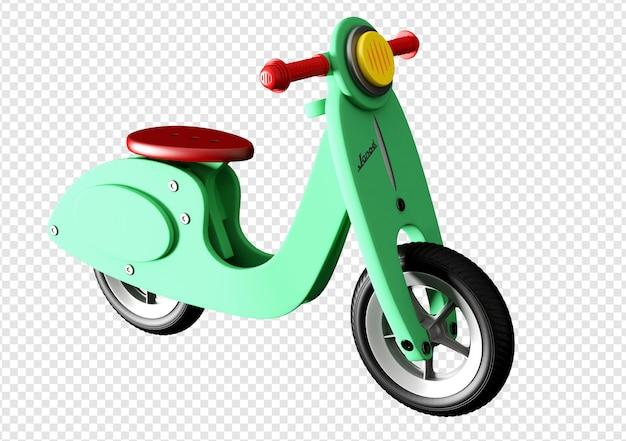 자전거 장난감 3d 렌더링