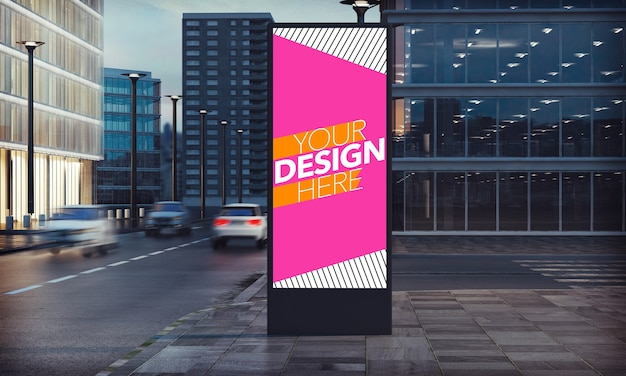 Billboard advertising for commercial ads mockup