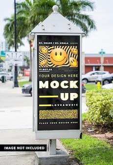 Billboard advertising mock up on the street
