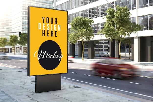 Billboard advertising mock up on the street Premium Psd