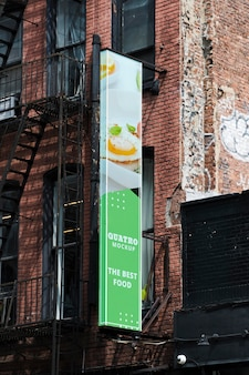 Billboard in the city mock-up