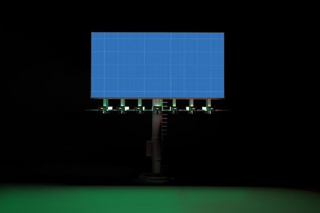 Рекламный щит в темноте
