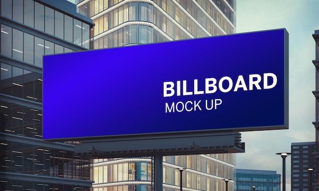 Billboard mock up at city downtown