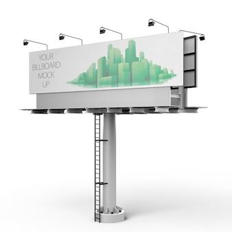 Рекламный щит макете дизайн
