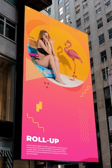 Billboard mock-up with gradient
