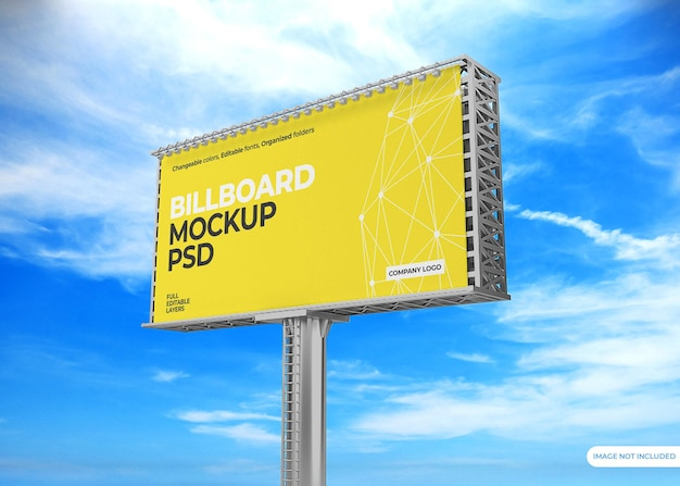 Billboard mockup design against the sky