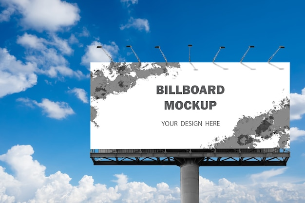 Billboard mockup design outdoors