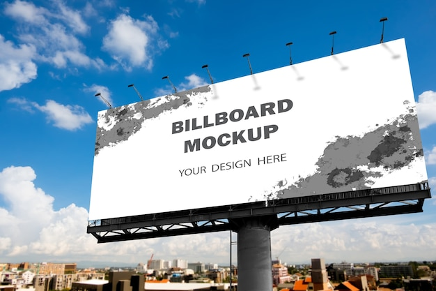 Billboard mockup design outdoors