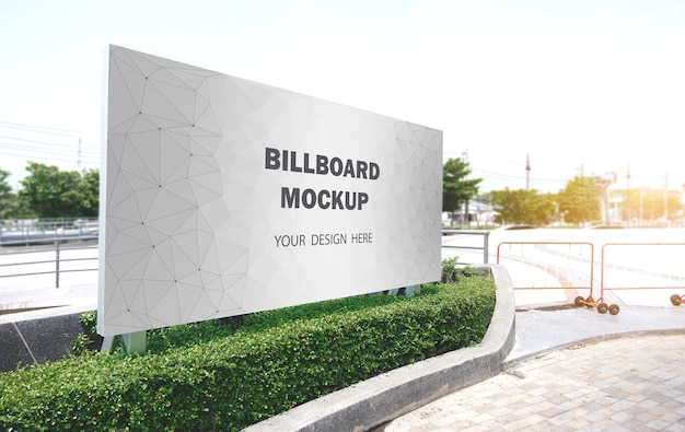 Billboard mockup displayed on the outdoor