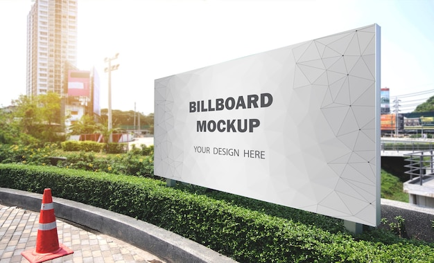 Billboard mockup displayed outdoors