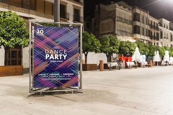 Billboard mockup in night city