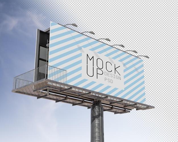 Billboard mockup isolated