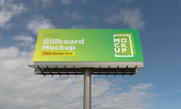 Billboard mockup template, front view