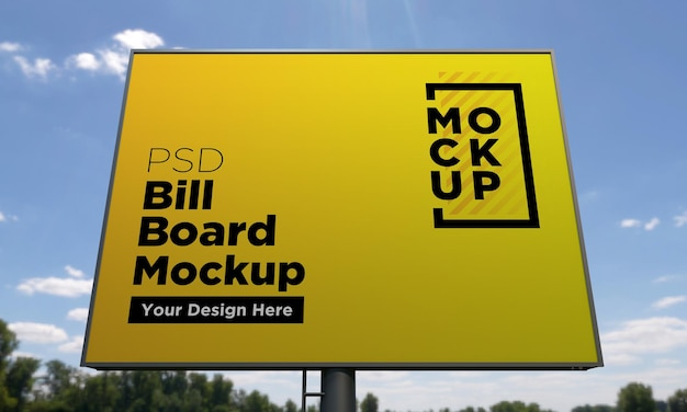 Шаблон макета рекламного щита