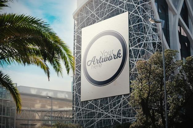 Рекламный щит на макете здания