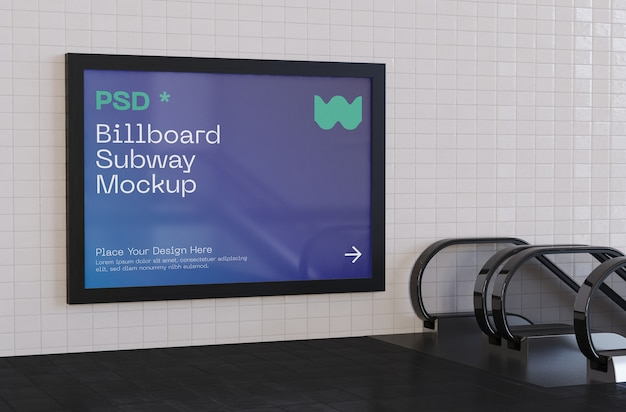 Billboard subway mockup
