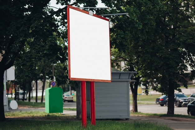 Billboard with blank surface for advertising