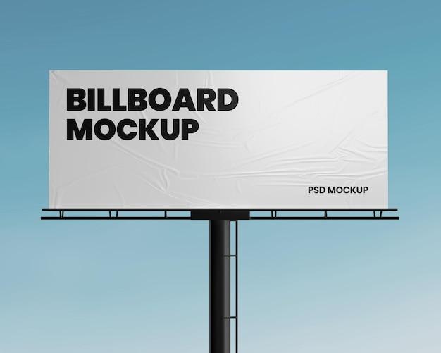 Billboard with crumpled paper mockup