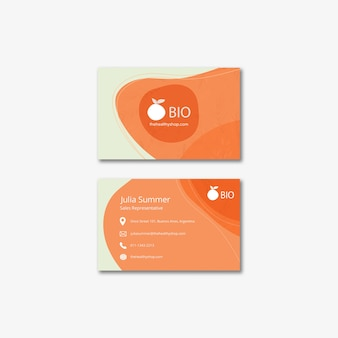 Bio & healthy food concept business card