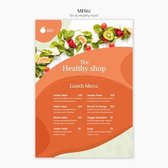 바이오 및 건강 식품 컨셉 메뉴 무료 PSD 파일