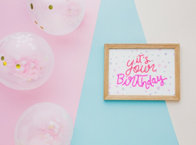 Birthday balloons with cute lettering