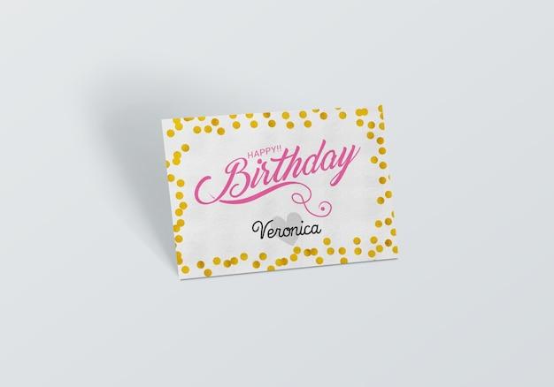 誕生日カードがモックアップ