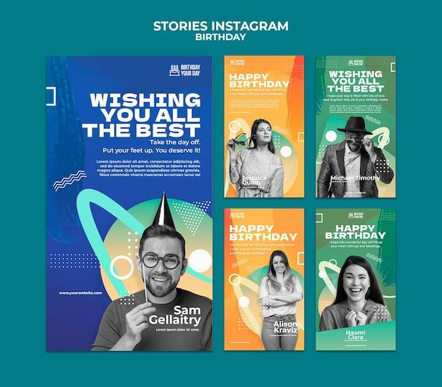Birthday celebration instagram stories