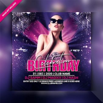 Birthday celebration party flyer template