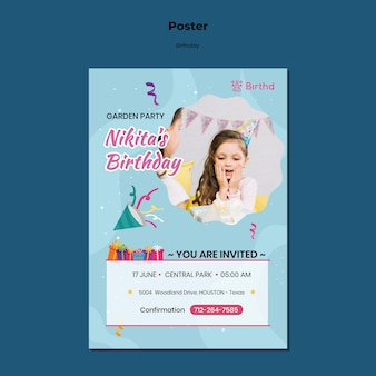 Birthday celebration poster template