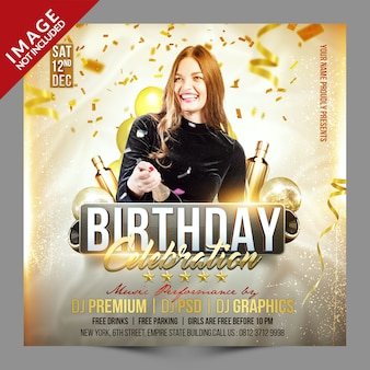 Birthday celebration social media promotion