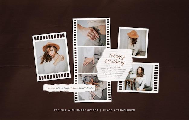 Поздравление с днем рождения фильм рамка фото moodboard мокап