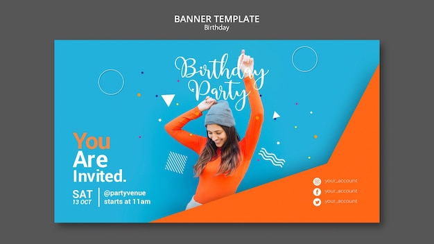 Birthday party banner template