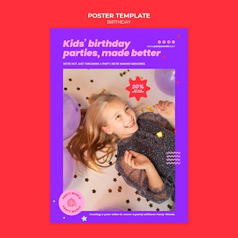Birthday party print template