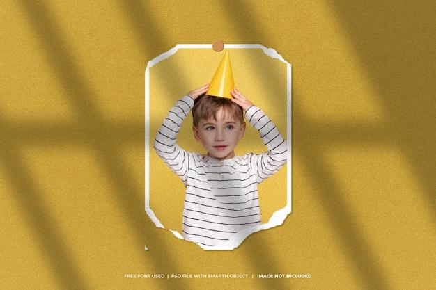 誕生日フォトフレームセットモックアップムードボード