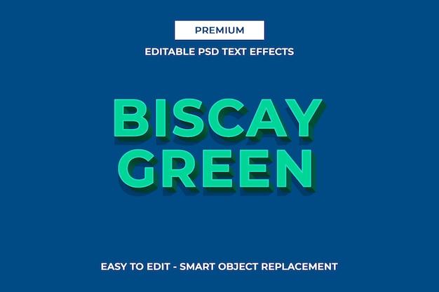 Biscay green-3dパントンカラーテキストエフェクト